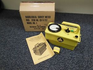 Victoreen Ocdm Cdv 717 Geiger Counter No 1 Radiation Survey Meter As Is