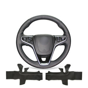 Black Soft Leather Steering Wheel Cover For Buick Regal Opel Insignia 2014 2015