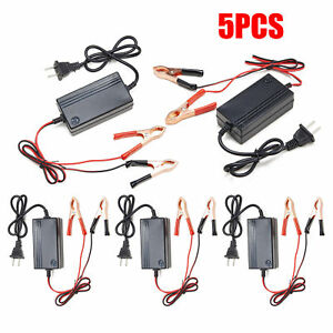 5pcs 12v Battery Charger Tender Motorcycle Car Atv Boat Multimode Maintainer Tet