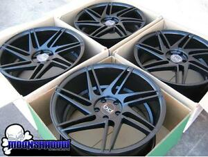 20 Blaque Diamond Bd 1 Wheels Rims Mercedes Audi Volkswagen 5x112 20x9 20x10 5