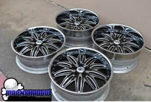 22 Asanti Af151 Wheels Rims Chrome Black Mercedes Benz S class S550 S500