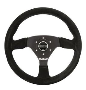 Sparco R383 Steering Wheel 330mm Black Suede 39mm Dish W Thick Anatomic Grip