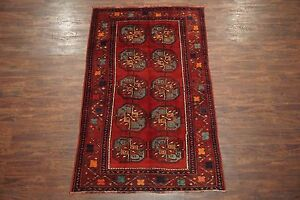 5x8 Persian Antique Bukhara Hand Knotted Wool Area Rug Oriental 4 8 X 8 2