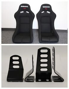 Bride Vios Black Cloth Frp Race Seat Short And Tall Side Mounts Included