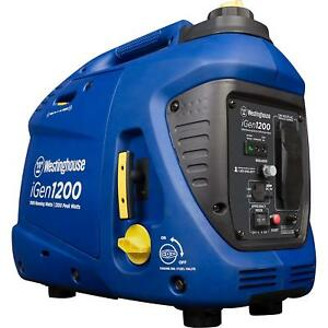 Portable Inverter Generator Cover 1000 Rated Watts And 1200 Peak Watts Gas Powe