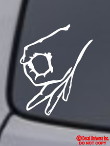 Circle Punch Game Vinyl Decal Sticker Car Window Wall Bumper Funny Made You Look