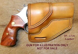 Gary C s Avenger Owb Revolver Holster Smith Wesson L Frame 4 Heavy Leather