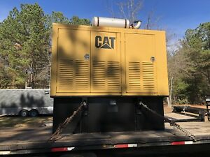 1999 3208 Caterpillar 175kw Generator With 500 Gallon Fuel Tank
