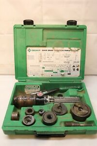 Greenlee Hydraulic Punch Driver Kit 1 2 2 Quick Draw 90 7906sb Knockout