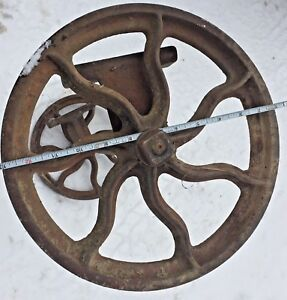 12 Wheels And Axle S Spoked Vintage Iron Industrial Cart Primitive Steampunk