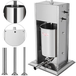 Industrial Vertical Sausage Stuffer Stainless Steel Dual Speed Commercial 15l