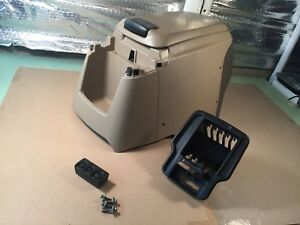 99 07 Oem Ford F250 F350 Excursion Front Center Console Assembly Tan Arm Rest