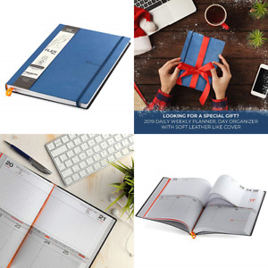Premium Daily Planner 2019 Day Organizer W Flexible Covers 365 Days For Business