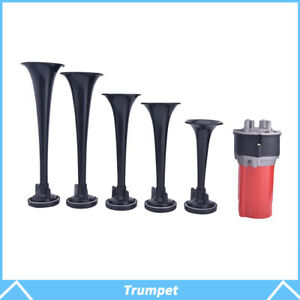 5pcs 125db Trumpet Musical La Cucaracha Air Horn Compressor Relay Car Truck