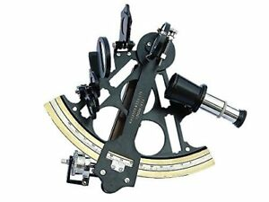 Admiral S Antique Reproduction Micrometer Drum Readout Black Finished Sextant