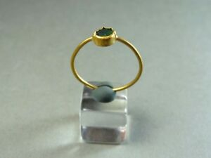 Ancient Gold Glass Ring Roman 100 300 Ad
