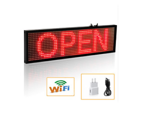 34cm P5 Smd Red Wifi Led Sign Indoor Storefront Open Sign Programmable Scrolling