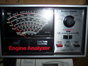 Sears Solid State Electronic Engine Analyzer Model 161 214230 Nice Condition