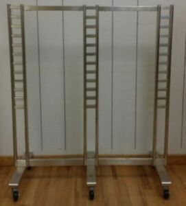 Store Display Fixtures Ladder Style Garment Display Rack On Rollers 62 Tall