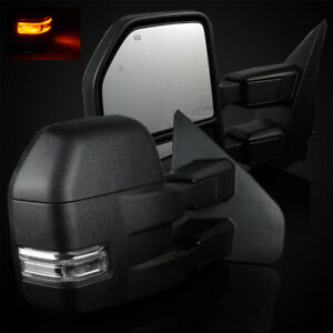 For 04 14 Ford F150 New 2015 Look Power Heated Towing Mirrors Signal Lights