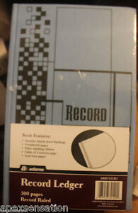 Adams Record Ruled Ledger 500 Page Book Arb712cr5 New Sealed