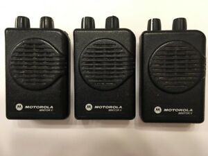 Motorola Minitor V 5 Low Band Pagers 33 37 Mhz Non sv 2 channel Lot Of 3