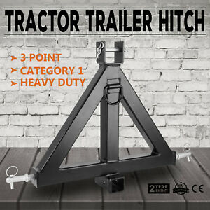 Heavy Duty 3point 2 Receiver Trailer Hitch Category 1tractor Tow Brand New
