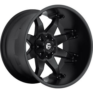 22x14 Black Fuel Octane Wheels 6x135 6x5 5 76 Lifted Ford F 150 Expedition