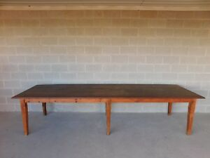 Antique Barn Wood Shaker Style Farm Dining Table 129 5 L