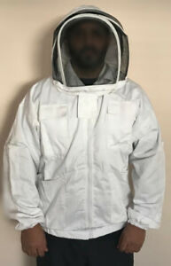 Quality Bee Keeping Jacket With Hood veil Gloves