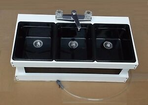 Portable Sink Mobile Concession 3 Compartment Sink Table Top Sink Bm3