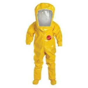 Level B Rear entry Encapsulated Suit Yellow Xl Tychem 9000 Material Xl
