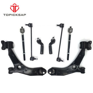 Steering Suspension Kit Set Of 8 Control Arms Sway Links Tie Rods For Mazda