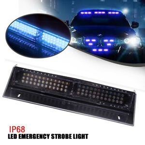 68 Blue Led Hazard Elements Warning Traffic Advisor Strobe Flash Strobe Light