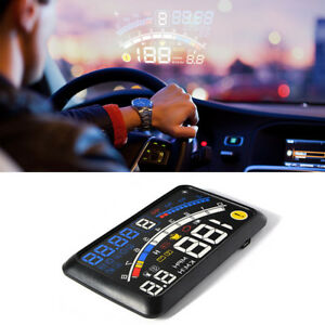 5 5 12v Car Obd2 Ii Hud Head Up Display Fuel Consumption Speed Warning System