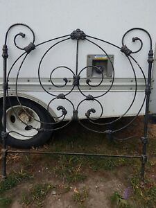 Ornate Antique Cast Iron Headboard Only Vintage