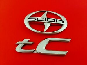 05 06 07 08 09 10 Scion Tc Rear Trunk Emblem Logo Badge Sign Symbol Set Oem 2006
