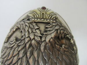 Russia Russian 84 Silver Fine Imperial Egg 300 Year Rule 1613 1913 Stand