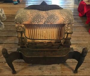 Antique Cast Iron Peerless Manufacturing Gas Parlor Heater Stove Great Look