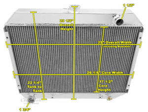 3 Row Perf Champion Radiator For 1968 1973 Dodge Charger Big Block V8 Engine