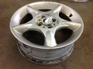 Wheel 16x6 1 2 Alloy 5 Spoke Star Design White Fits 02 09 Mini Cooper 281078