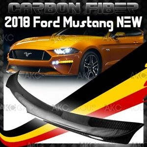 Glossy Real Carbon Fiber Rear Spoiler Wing B Racing Style For 2018 Ford Mustang