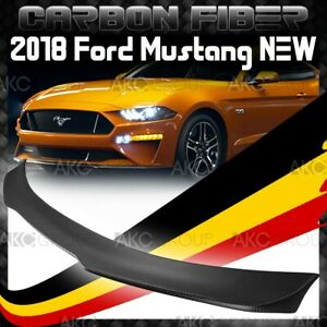 Matte Real Carbon Fiber Rear Spoiler Wing B Racing Style For 2018 Ford Mustang