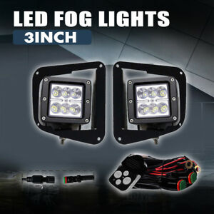 2x18w 3inch Led Work Light Pods Spot Driving Work Fog For Toyota Tundra 2014 19