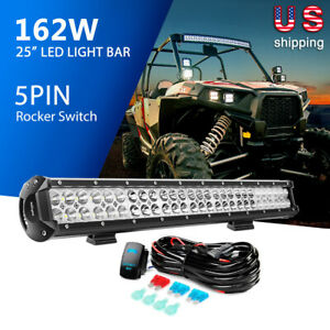 Nilight Led Light Bar 25inch 162w Spot Flood Combo Lights With Wiring Kit Switch