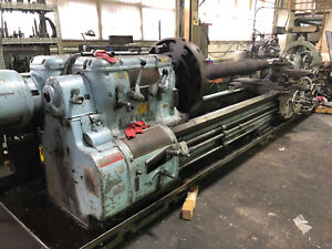Axelson Engine Lathe Heavy Duty 40 X 144 Dro Steady Rests Raised