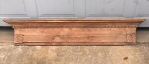 Early Vintage 1900s Ornate Wood Victorian Eastlake Fireplace Mantel Mantle
