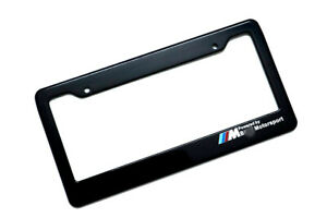 License Plate Frames 1 Pcs For Bmw Usa And Canada Cars Black Color Plastic
