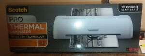 new In Box Scotch Pro Thermal Laminator 12 3 Width 12 Pouch Starter Kit