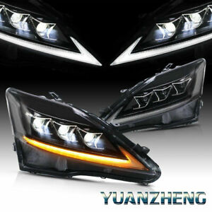 Led Drl Headlights For Lexus Isf Is250 Is350 2006 2012 Lamps W Sequential Turns